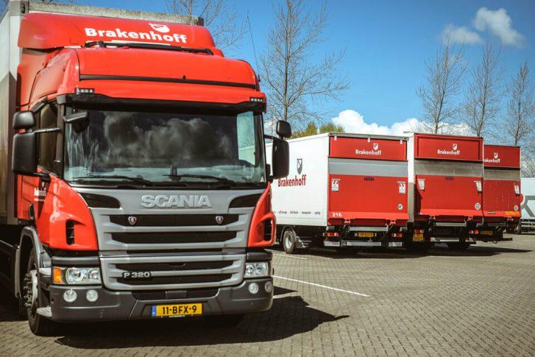 Logistiek transport vrachtwagen